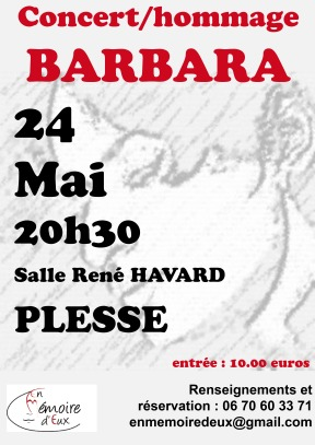 affiche concert barbara