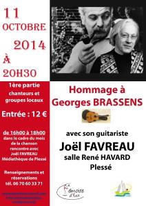 Affiche Brassens