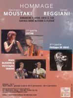 Affiche Moustaki Reggiani