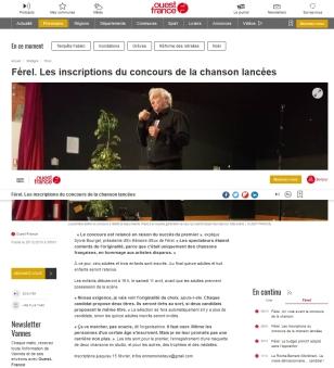 Ouest France - concours chanson 2ème édition