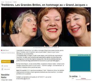 Ouest France - Les Grandes Brêles à Treillières